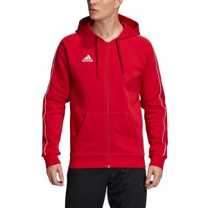 סווטשירט אדידס לגברים Adidas Core 18 FZ - אדום