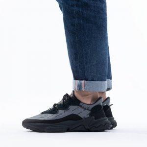 נעלי סניקרס אדידס לגברים Adidas Originals Ozweego - שחור