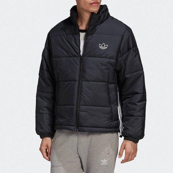 ג'קט ומעיל אדידס לגברים Adidas Originals Pad Stand Puff - שחור