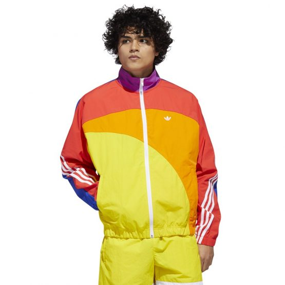 ג'קט ומעיל אדידס לגברים Adidas Originals Pride Off-Centre - צבעוני