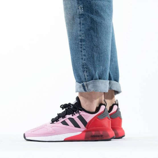 נעלי סניקרס אדידס לגברים Adidas Originals x Ninja Zx 2K Boost - ורוד