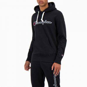 סווטשירט צ'מפיון לגברים Champion Hooded Sweatshirt - שחור