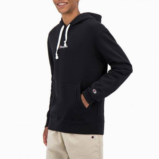 סווטשירט צ'מפיון לגברים Champion Hooded Sweatshirt - שחור מלא