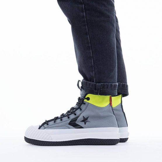 נעלי סניקרס קונברס לגברים Converse Bosey Mc Gore-Tex Hi - אפור