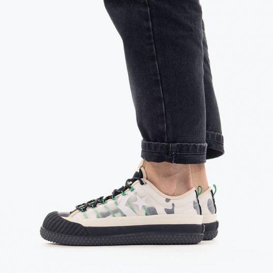 נעלי סניקרס קונברס לגברים Converse x Brain Dead Bosey Boot Ox - צבעוני בהיר