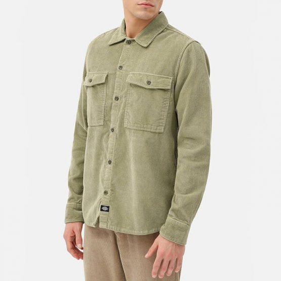 חולצה מכופתרת Dickies לגברים Dickies Fort Polk Shirt - ירוק