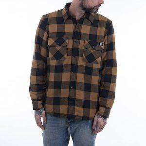 חולצה מכופתרת Dickies לגברים Dickies Lansdale - חום