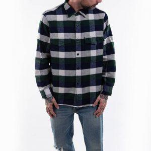 חולצה מכופתרת Edwin לגברים Edwin Big Shirt Longsleeve - צבעוני