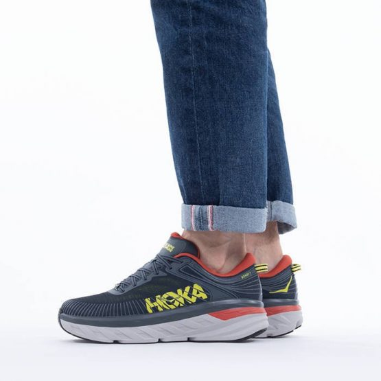 נעלי סניקרס הוקה לגברים Hoka One One Bondi 7 - אפור