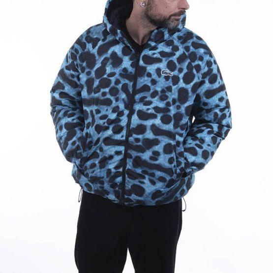 ג'קט ומעיל לקוסט לגברים LACOSTE X National Geographic Animal Print - כחול