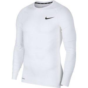 חולצת אימון נייק לגברים Nike Pro Top LS - לבן