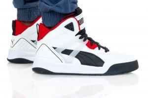 נעלי סניקרס פומה לגברים PUMA BACKCOURT MID - לבן