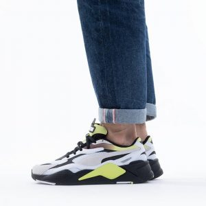 נעלי סניקרס פומה לגברים PUMA Rs-X3 Neo Fade - לבן/שחור