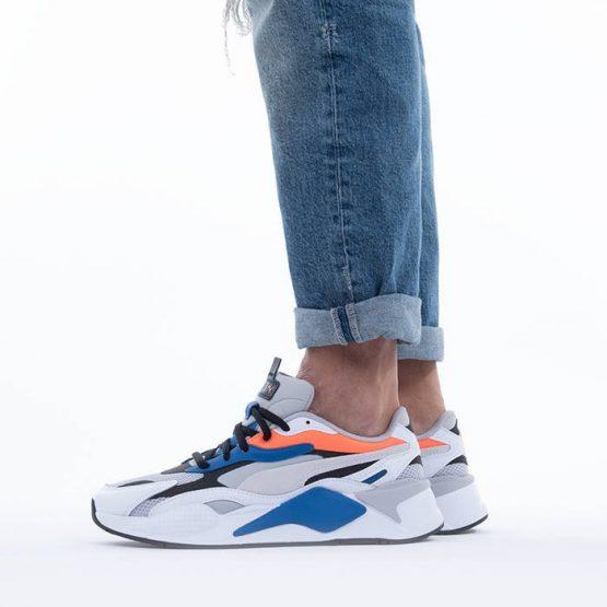 נעלי סניקרס פומה לגברים PUMA Rs-X3 Prism - אפור/לבן