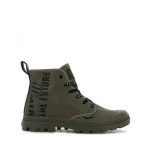 נעלי סניקרס פלדיום לגברים Palladium Hi Future - ירוק זית