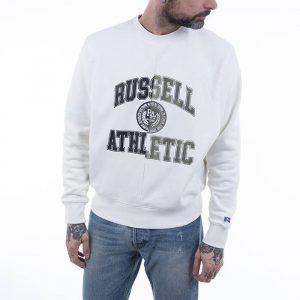 סווטשירט ראסל אתלטיק לגברים Russell Athletic Athletic Crewneck - לבן