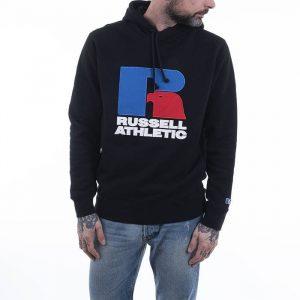 סווטשירט ראסל אתלטיק לגברים Russell Athletic Logo Hoody - שחור