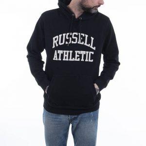 סווטשירט ראסל אתלטיק לגברים Russell Athletic Pullover Hoody - שחור