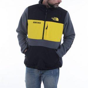 סווטשירט דה נורת פיס לגברים The North Face Steep Tech Half Zip Fleece - אפור