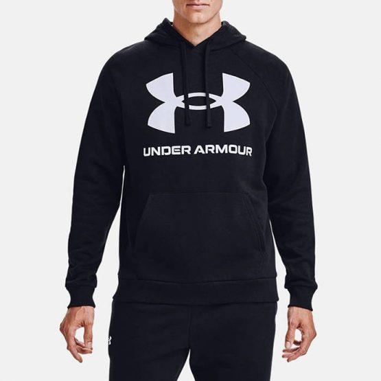 סווטשירט אנדר ארמור לגברים Under Armour Rival Fleece Big Logo Hd - שחור