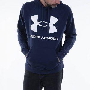 סווטשירט אנדר ארמור לגברים Under Armour Rival Fleece Big Logo Hd - כחול