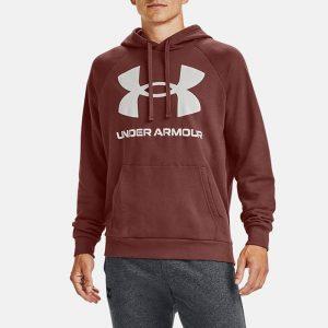 סווטשירט אנדר ארמור לגברים Under Armour Rival Fleece Big Logo Hd - בורדו