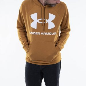 סווטשירט אנדר ארמור לגברים Under Armour Rival Fleece Big Logo Hd - צהוב