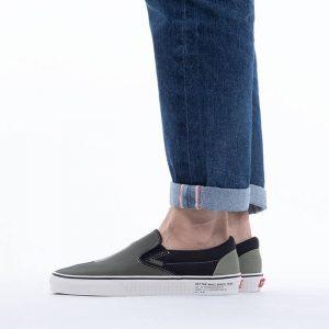 נעלי סניקרס ואנס לגברים Vans Classic 66 Supply Slip-On - אפור/ירוק