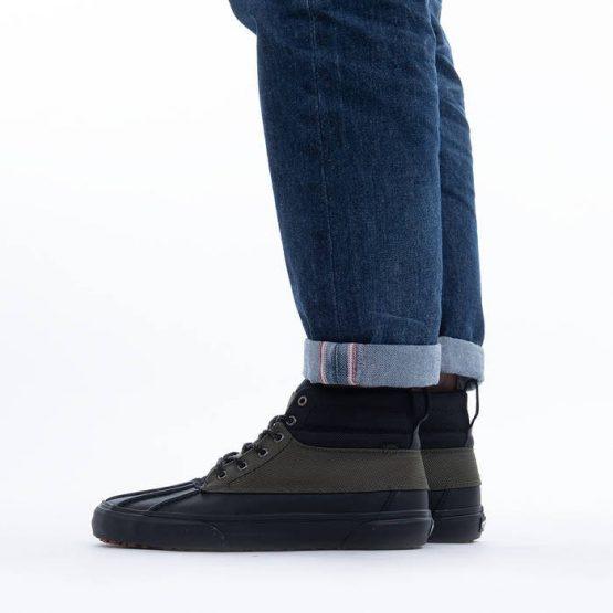 נעלי סניקרס ואנס לגברים Vans Sk8-Hi Del Pato - שחור/ירוק