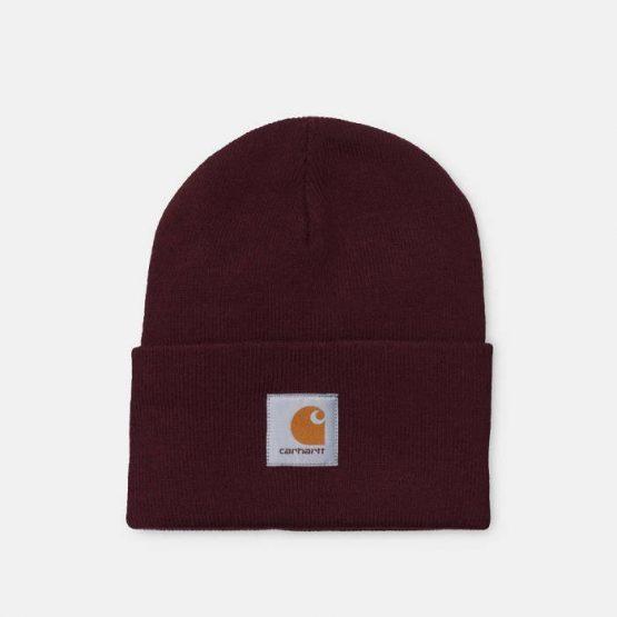 כובע קארהארט לגברים Carhartt WIP Acrylic Watch Hat - בורדו