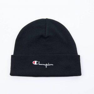 כובע צ'מפיון לגברים Champion Beanie Cap - שחור הדפס