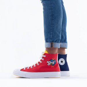 נעלי סניקרס קונברס לגברים Converse Chuck Taylor All Star Hiker - אדום/צבעוני