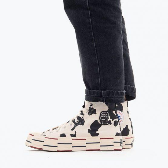 נעלי סניקרס קונברס לגברים Converse x Brain Dead Chuck 70 Hi - צבעוני בהיר