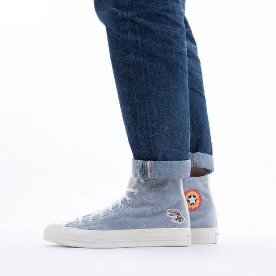 נעלי סניקרס קונברס לגברים Converse x Looney Tunes Chuck 70 Hi Bugs Bunny - אפור/כחול