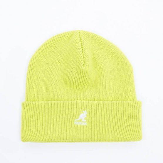 כובע קנגול לגברים Kangol Acrylic Pull-On - צהוב בהיר