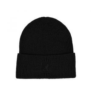 כובע קנגול לגברים Kangol Patch Beanie - שחור