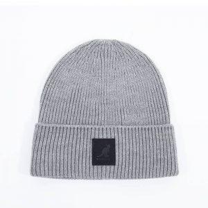 כובע קנגול לגברים Kangol Patch Beanie - אפור