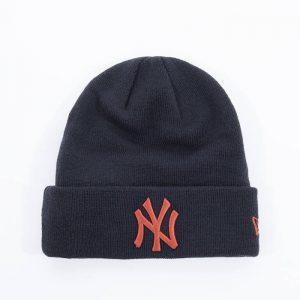 כובע ניו ארה לגברים New Era Essential Cuff Knit New York Yankees - כחול
