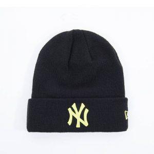 כובע ניו ארה לגברים New Era Essential Cuff Knit New York Yankees - שחור