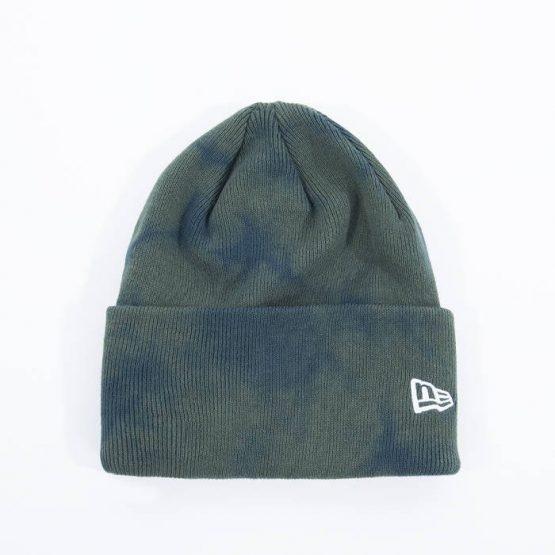 כובע ניו ארה לגברים New Era Tie Dye Cuff Knit - ירוק