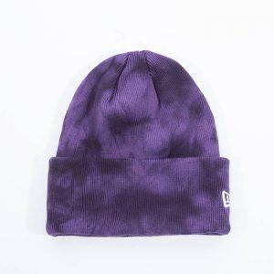 כובע ניו ארה לגברים New Era Tie Dye Cuff Knit - סגול