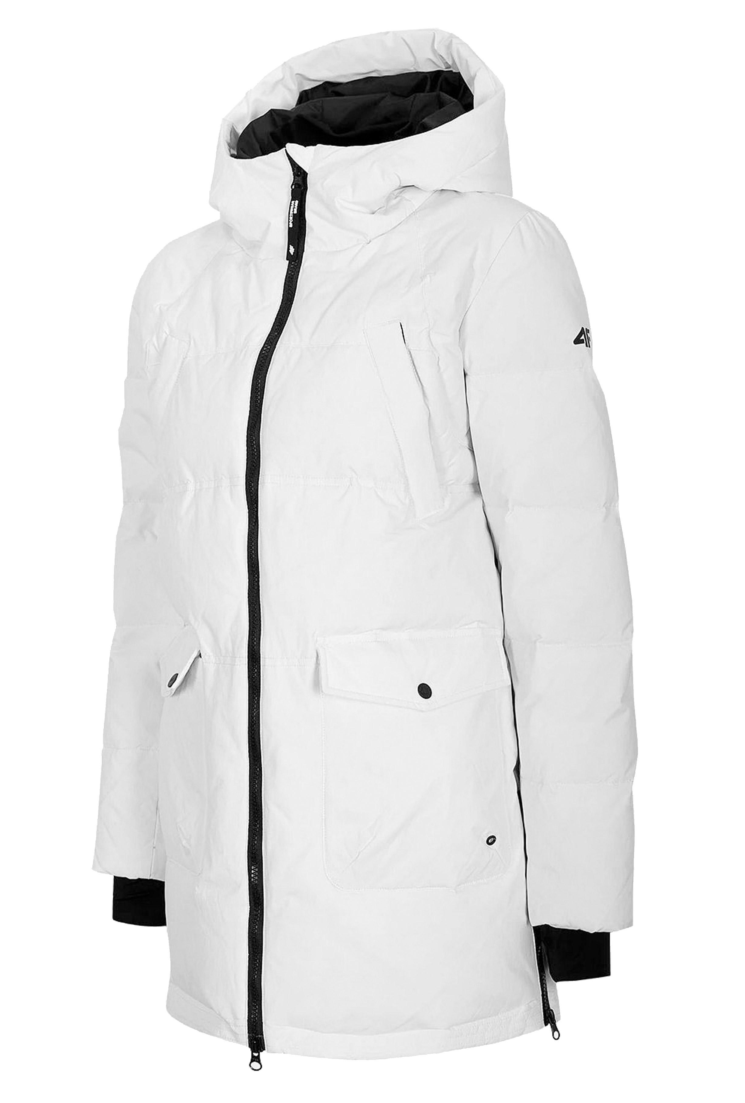 ג'קט ומעיל פור אף לנשים 4F SNOWWHITE - לבן