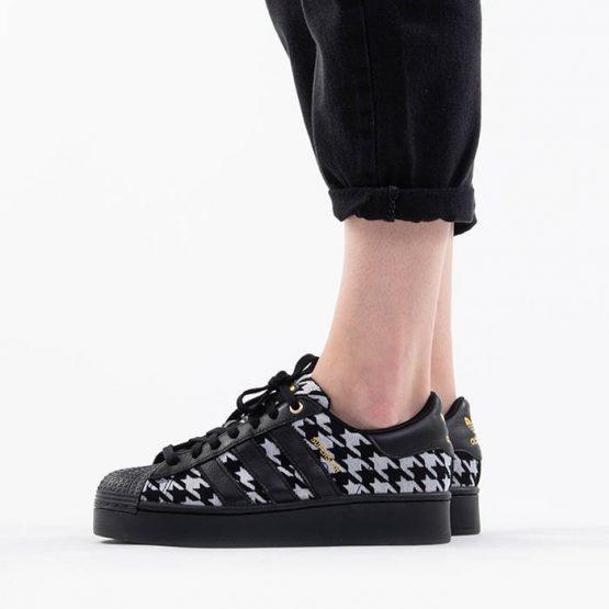 נעלי סניקרס אדידס לנשים Adidas Originals Superstar 2.0 Bold - שחור/לבן