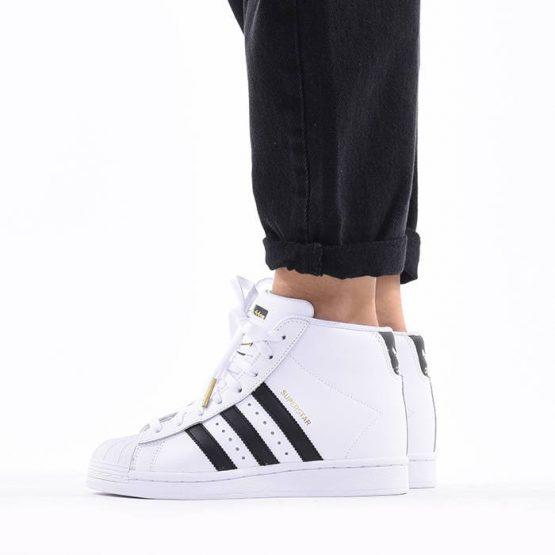 נעלי סניקרס אדידס לנשים Adidas Originals Superstar UP - לבן/שחור