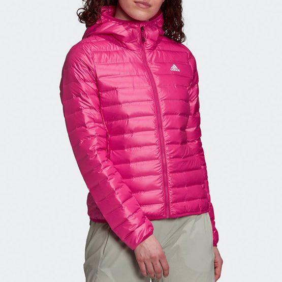ג'קט ומעיל אדידס לנשים Adidas Varilite Hooded - ורוד
