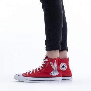 נעלי סניקרס קונברס לנשים Converse x Looney Tunes Chuck Taylor All Star Hi Bugs Bunny - אדום