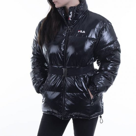 ג'קט ומעיל פילה לנשים Fila Puffed Jacket - שחור