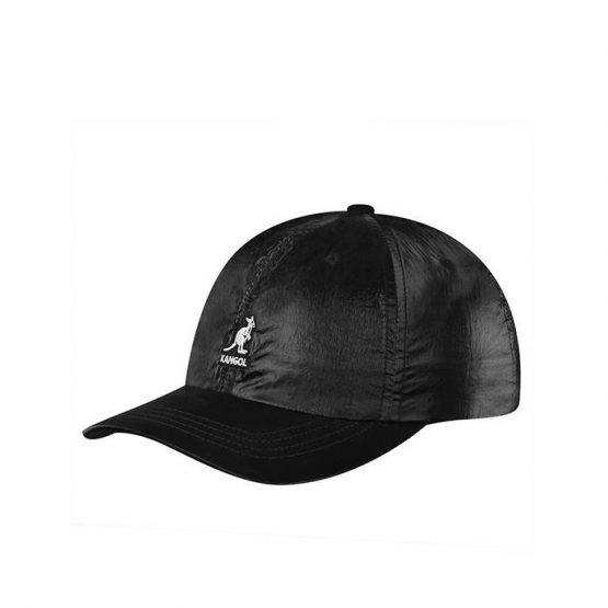 כובע קנגול לנשים Kangol Iridescent Basseball - שחור
