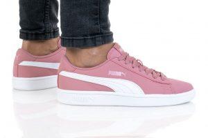 נעלי סניקרס פומה לנשים PUMA SMASH V2 BUCK - לבן/ורוד