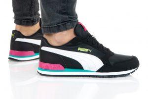 נעלי סניקרס פומה לנשים PUMA ST RUNNER V2 MESH - צבעוני כהה